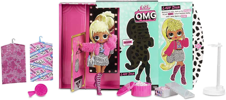 l.o.l. surprise! o.m.g. lady diva fashion doll with 20 surprises