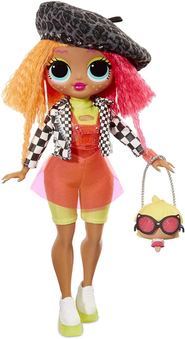 l.o.l. surprise! o.m.g. neonlicious fashion doll with 20 surprises