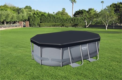 bestway's flowclear pvc pool cover (300cm x 200cm x 84cm)