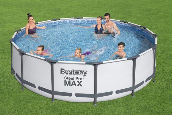بيست واي – حمام سباحة برو ستيل ماكس دائري 305سم*76سم