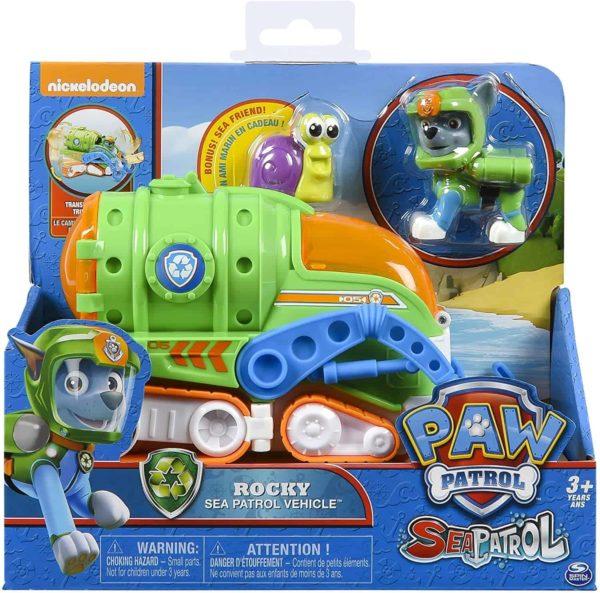 sea patrol – rocky's transforming vehicle and snail sea friend
