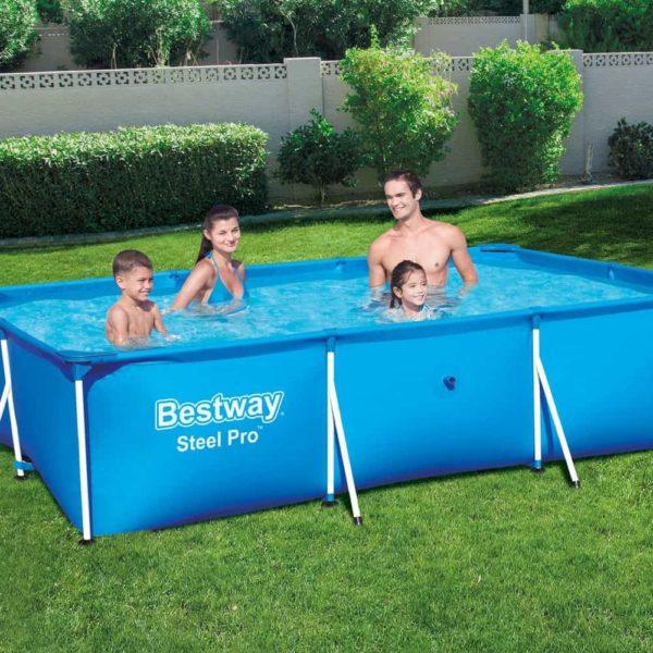 بيست واي – حمام سباحة برو ستيل مستطيلي الشكل 300سم*201سم*66سم