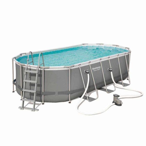 بيست واي – حمام سباحة باور ستيل بيضاوي الشكل 549سم*274سم*122سم