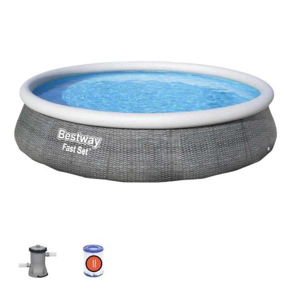 bestway's fast set pool set (396cm x 84cm)