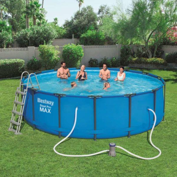 بيست واي – طقم حمام سباحة برو ستيل ماكس دائري 457سم*122سم