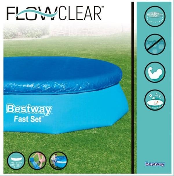 بيست واي – غطاء لحمام السباحة فلو كلير 244سم