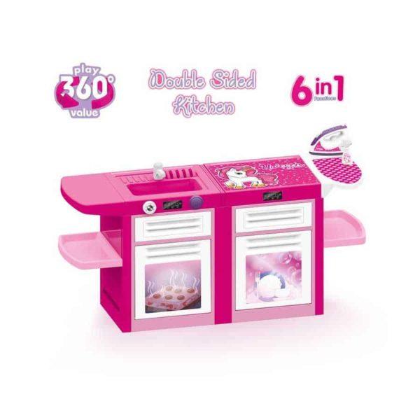 360° kitchen set 6 in 1 pink dolu unicorn