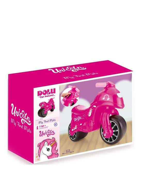 pink unicorn my first moto ride on dolu