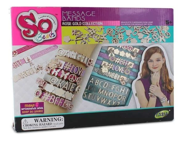 tasia so beads message bands rose gold collection toy for girls