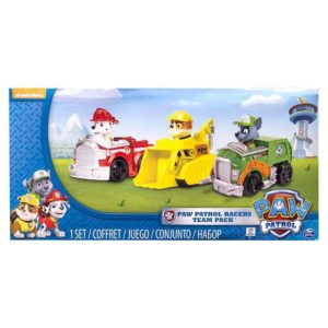 Paw-Patrol-Racers-3-Pack-Vehicle-Set,-Marshall,-Rocky,-Rubble