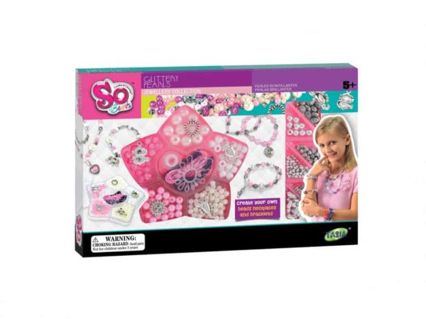 tasia so beads glittery pearls jewellery collection toy for girls