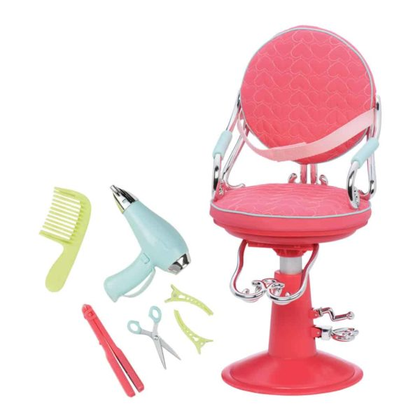 salon chair pink