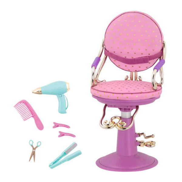 salon chair set – pink & purple