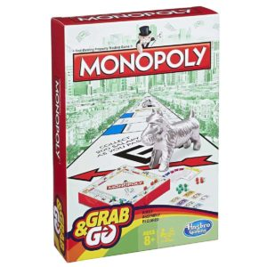 Hasbro Family Gaming Grab And Go Monopoly