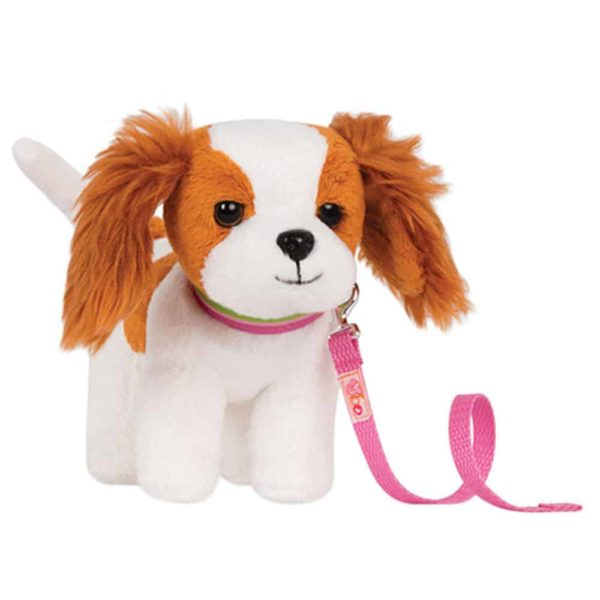 6″ poseable king charles spaniel pup