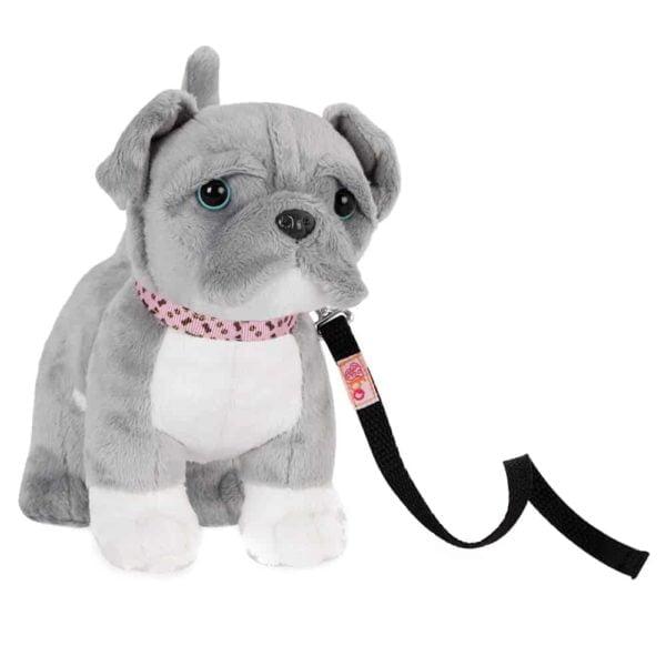 6″ poseable pitbull pup
