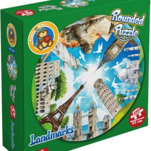 Landmarks Shaped Round Puzzle - 250 Pieces