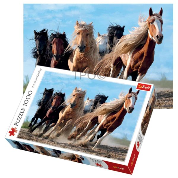 galloping horses – 1000pc jigsaw puzzle by trefl