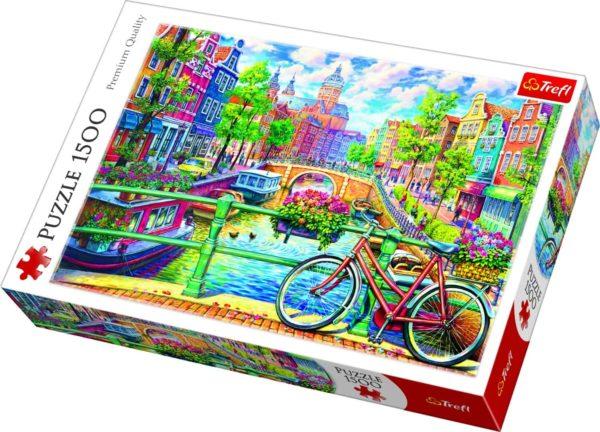 بازل الصور المقطوعة بقناة أمستردام 1500 قطعة من ترفل