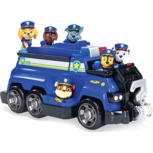 PAW-Patrol,-Chase's-Total-Team-Rescue-Police-Cruiser-Vehicle-with-6-Pups,-for-Kids-Aged-3-and-Up