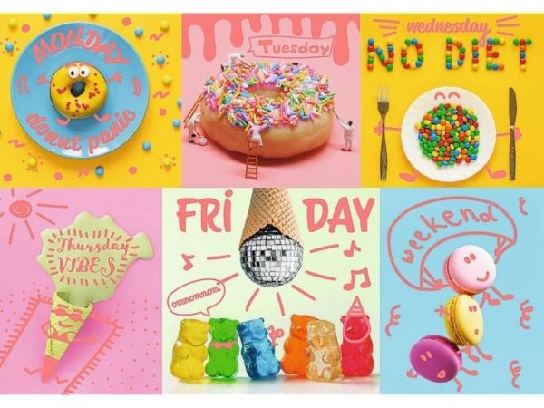 "puzzles – ""1000 neon color line"" – sweet week / trefl"