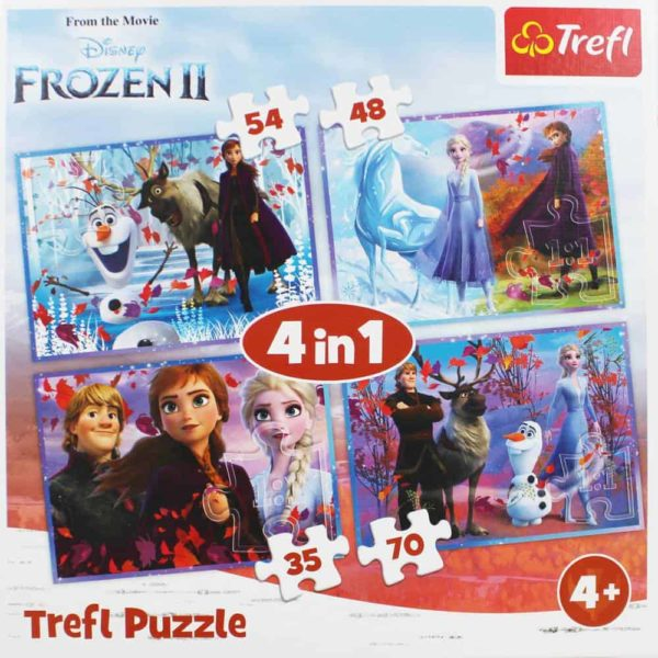 """puzzles – """"4in1"""" – journey into the unknown / disney frozen 2"""