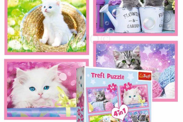 """puzzles – """"4in1"""" – cat's fun"""