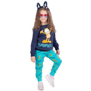 Garfield pajama blue black banana