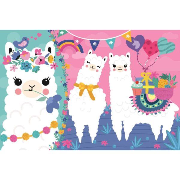 "puzzles – ""100"" – happy llamas / trefl"