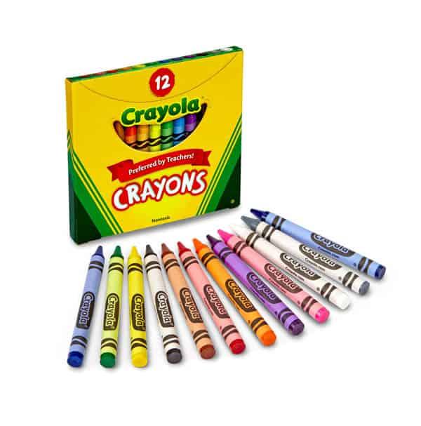 12 قلم تلوين متنوعة من كرايولا