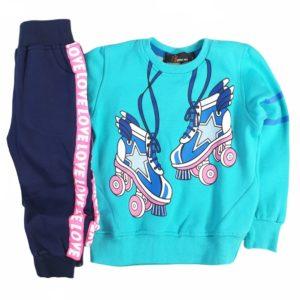 Skate Pajama Turquoise Banana