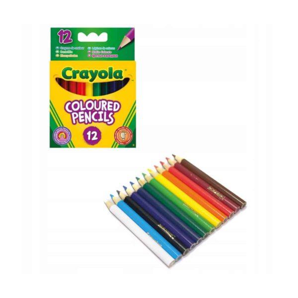 12 اقلام ملونة نصف طول من كرايولا