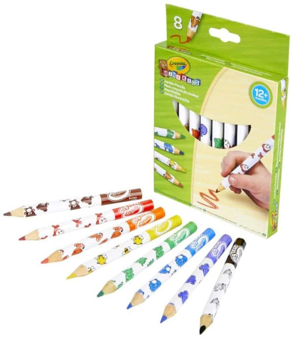 8 أقلام رصاص جامبو كانساس ميني كرايولا