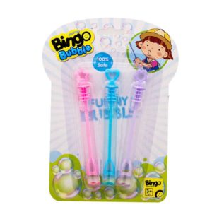 Bingo Bubble 3 Pieces Tube Blister Card colors may vary