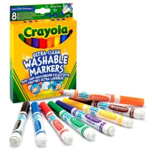 8 Ultra-Clean Washable Markers Crayola