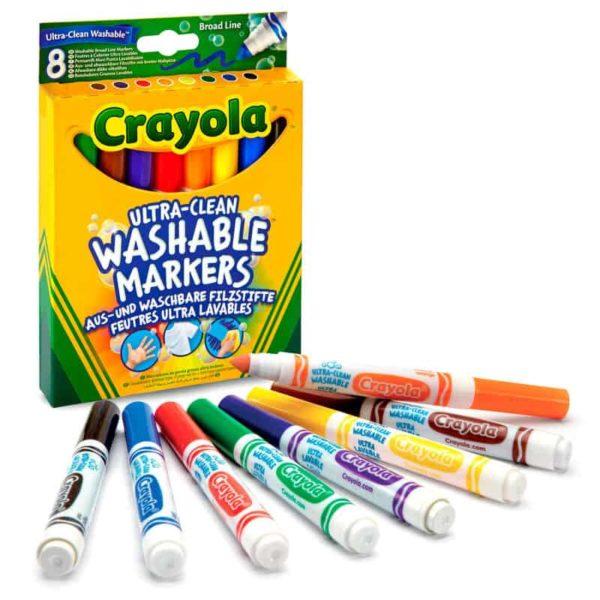 8 أقلام تلوين قابلة للغسل من كرايولا