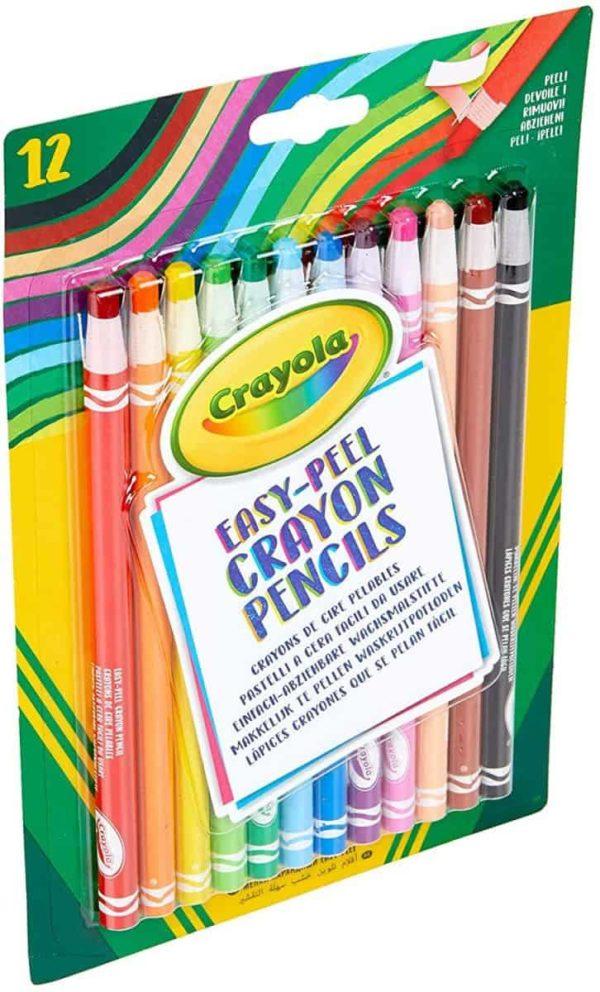 12 أقلام رصاص سهلة التقشير من كرايولا