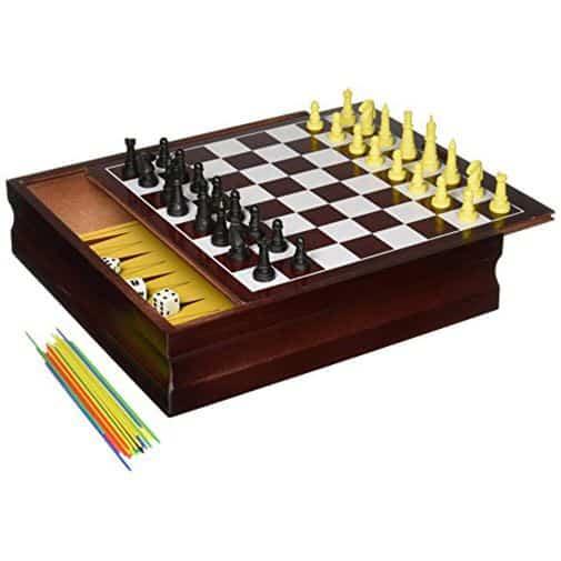 مجموعة العاب 10في 1 لعبة شطرنج – قم بتوصيل 4 سبين ماستر