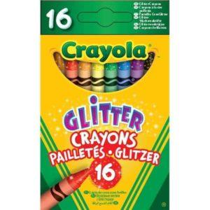 16 Glitter Crayons Crayola