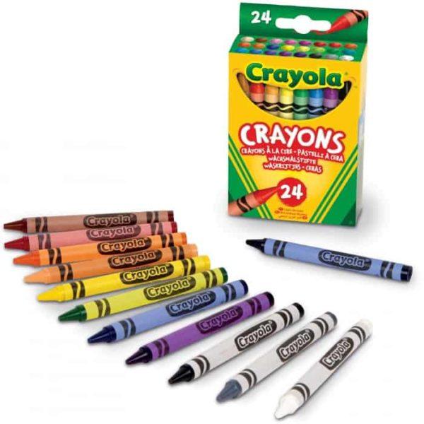 24 أقلام تلوين متنوعة من كرايولا