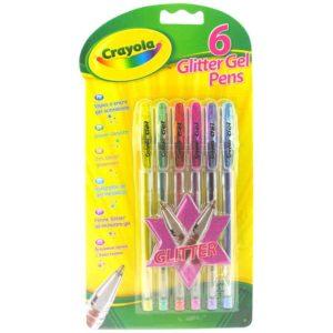 6 Glitter Gel Pens Crayola