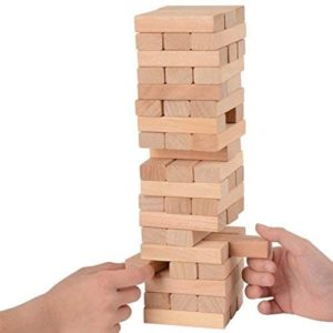 KS Games Woods 54 Piece Wooden Tower Cylinder Box