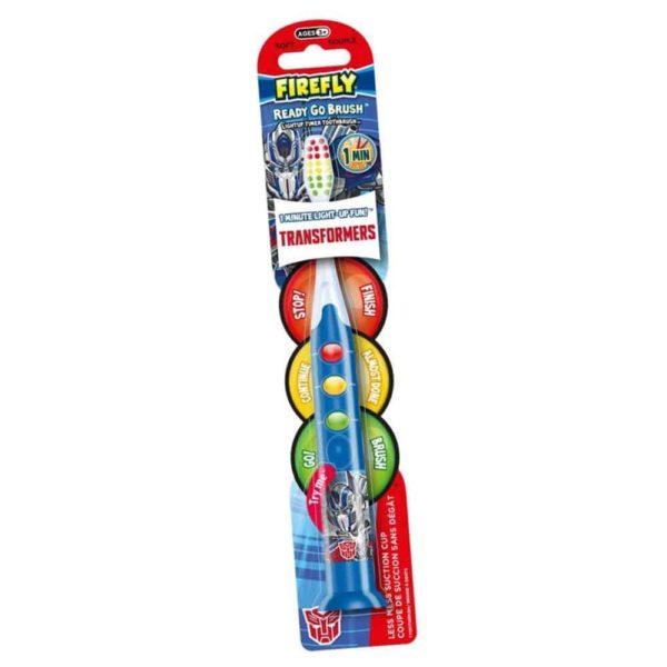 transformers firefly ready go brush lightup toothbrush & timer