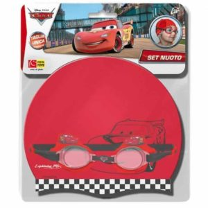 Disney Cars Cap And Swimming Goggles Set design  color may vary