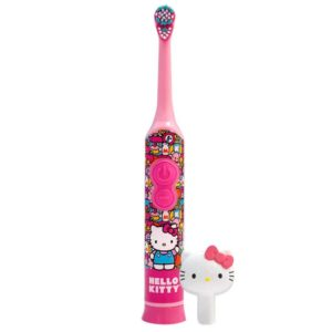 Firefly hello kitty rotary power soft toothbrush