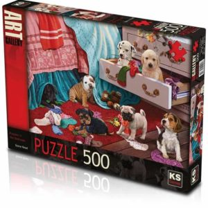 Puppies In Bedroom 500 pieces K's Games