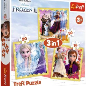 Trefl Frozen Puzzle 3in1 34847