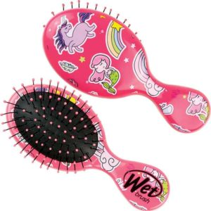 Wet Brush Happy Hair Fantasy Mini Detangler Hair Brush Pink