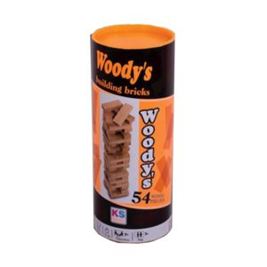 Woods 54 Piece Wooden Tower Cylinder Box KS Games