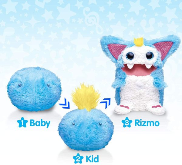 rizmo evolving musical friend interactive plush toy with fun games